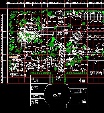 私家花园景观绿化设计平面图