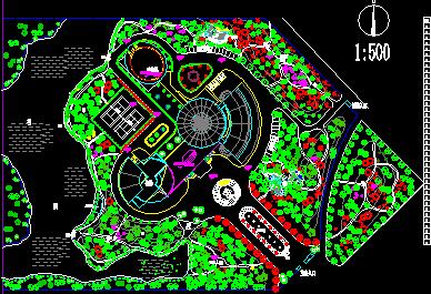 某公园绿化景观绿化设计规划图