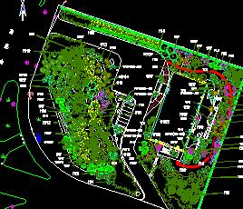 某生态庭院景观绿化澳门威利斯赌场平面图