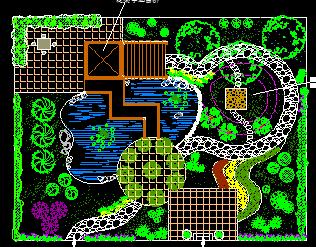 别墅庭院景观设计规划图