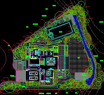 别墅区景观设计规划绿化围墙免费下载-大门绿园林方案别墅实拍图片