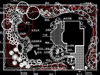 小庭院园林景观绿化设计图