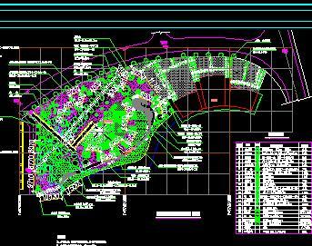 某大型综合公园园林景观施工图纸