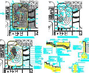 居住区景观园林施工图纸