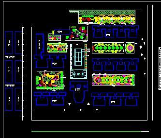 住宅区宅间绿化设计图纸
