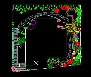 某别墅庭院绿化设计图纸