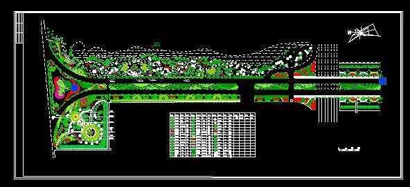 某广场绿化平面图免费下载 - 园林水电及相关 - 土木