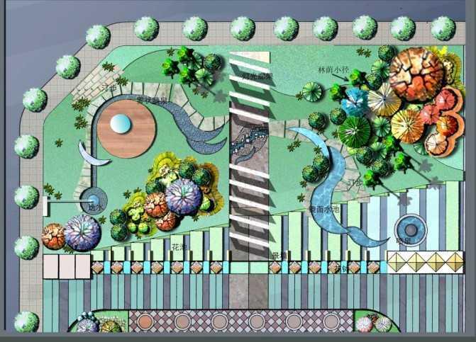 某城市绿地平面设计图免费下载 - 园林水电及相关