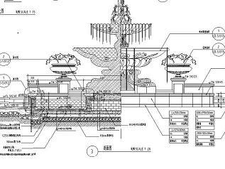 景观喷泉水景施工图纸