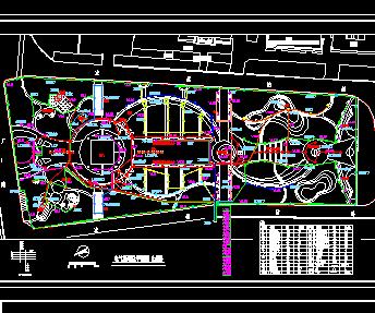 某火车站站前广场景观照明施工图纸