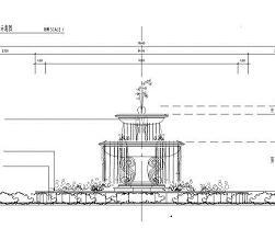 圆形喷泉水景设计图纸