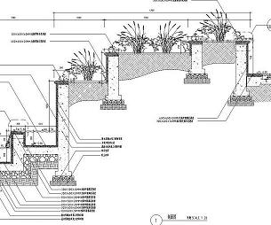 特色花池水景设计详图
