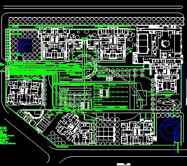 住宅小区景观照明总平面图