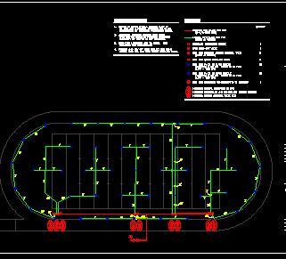 棒球、橄揽球场灌溉系统设计图纸