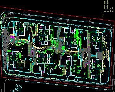 某住宅小区景观照明总平面布置图免费下载 园林水电及相关