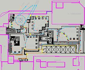 办公楼屋面花园绿化照明、音响设计图
