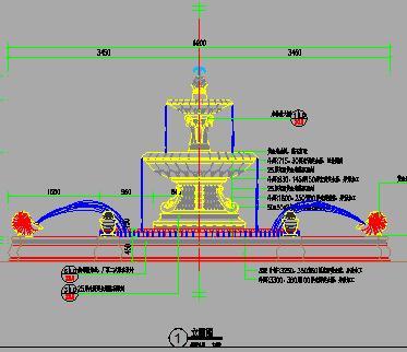 5种中高端点状喷泉水景施工图纸