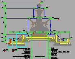 三层天鹅造型喷泉水景设计图纸