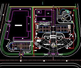 某宿舍区绿化灌溉平面设计图