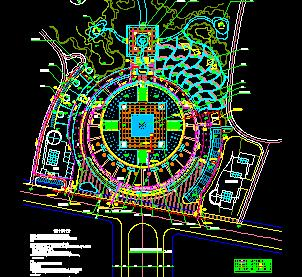 某广场景观给排水总平面布置图