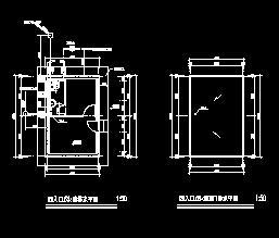 某入口门卫室给排水设计图纸