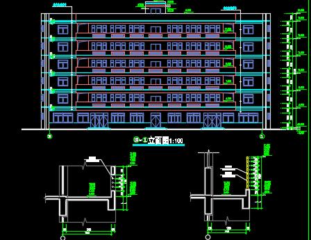 某宿舍楼预算书及工程量计算(含计算书、套价、图纸)