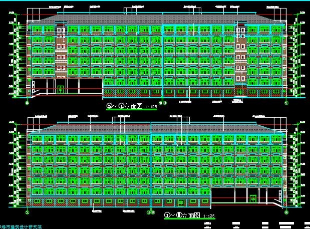大学3栋学生公寓楼建筑安装工程预算书(含建筑结构水电图纸)