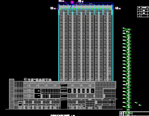 某商住楼亮化工程投标报价书(附图纸)