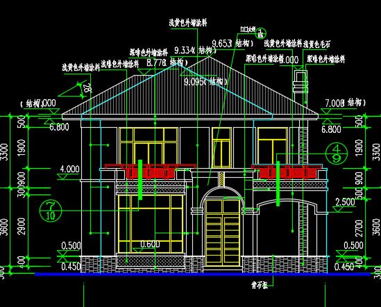 二层别墅土建工程量计算及预算书(附全套图纸)