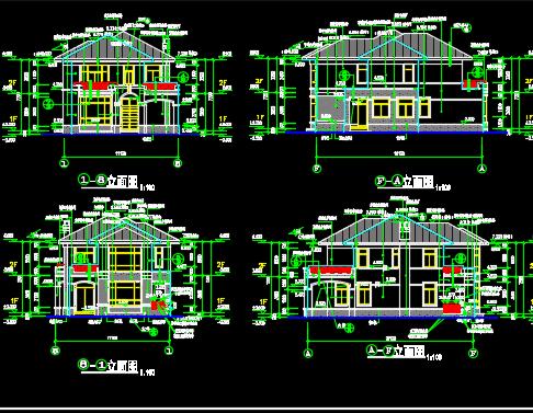 二层别墅建筑工程量计算实例(含图纸)
