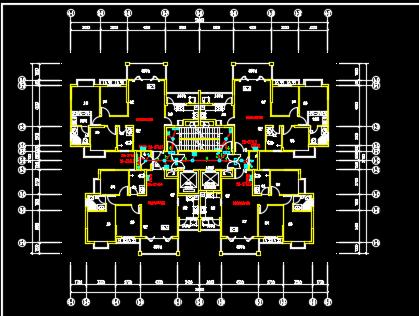3栋高层住宅楼安装工程量计算及结算书(图纸)