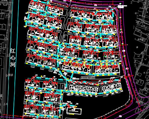 某拆迁安置房小区二期项目市政道路排水工程量清单预算(图纸)