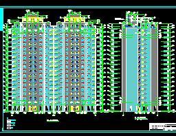 18层住宅楼土建装饰工程量计算实例(带图)