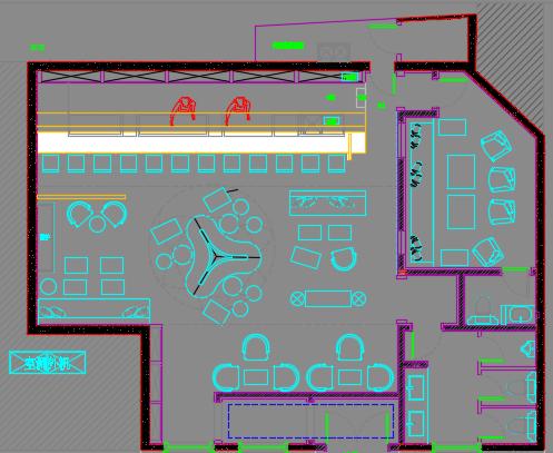 酒吧装修设计图纸及预算实例
