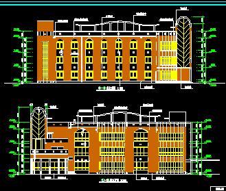 三层框混结构幼儿园工程量计算及图纸