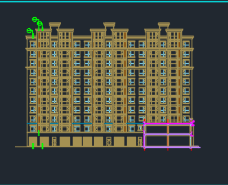 十一层剪力墙结构住宅楼施工图预算实例(含图纸、毕业设计及预算表)