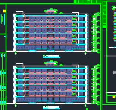 六层框架结构员工宿舍楼工程量计算实例(含图纸)