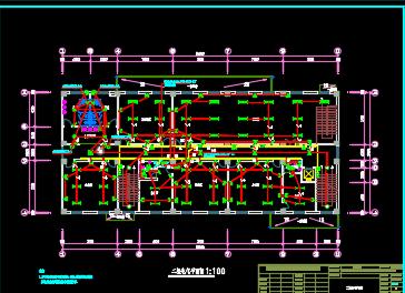 五层办公楼电气施工图纸