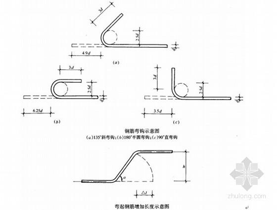 钢筋的弯钩长度是什么? 钢筋的弯钩长度 级钢筋末端需要做1800、 1350 、 900、弯钩时,其圆弧弯曲直径D不应小于钢筋直径d的2.5倍,平直部分长度不宜小于钢筋直径d的3倍;HRRB335级、HRB400级钢筋的弯弧内径不应小于钢筋直径d的4倍,弯钩的平直部分长度应符合设计要求。如下图所示: 1800的每个弯钩长度=6.