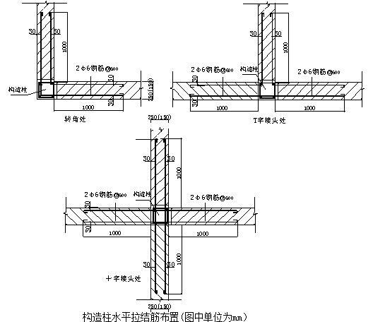 柱钢筋绑扎示意图_二次结构砌筑施工技术交底! - 结构设计知识 - 土木工程网