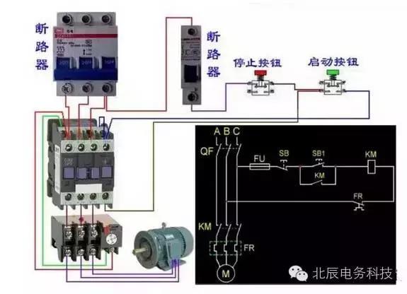 交流接触器接线方式 接触器上面都有标注(以实际为准) 1L 3L 5L对应2T 4T 6T 是接主触点 对应的线圈有接线柱A1 A2 还有辅助触点对应接就可以 13、14表示这个接触器的辅助触点,NO表示为常开,也就是没通电的情况下13、14是断开的,通电后13、14是闭合的。放在控制电路部分用来自锁(并联在启动按钮上),达到连续运行的目的。