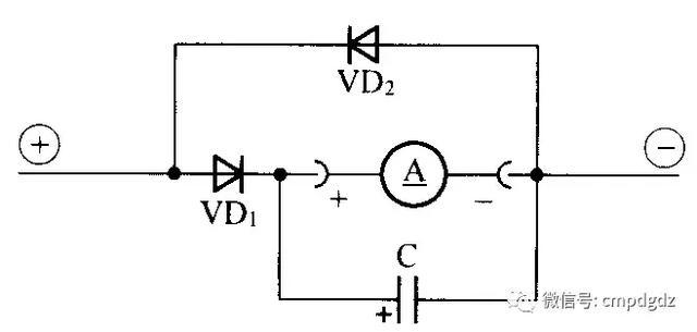 许多指针式万用电表只有直流电流测试功能,而没有交流电流测试功能.