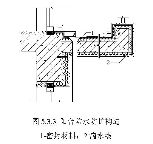 外墙防水阳台处节点构造防水设计要点有哪些?图片
