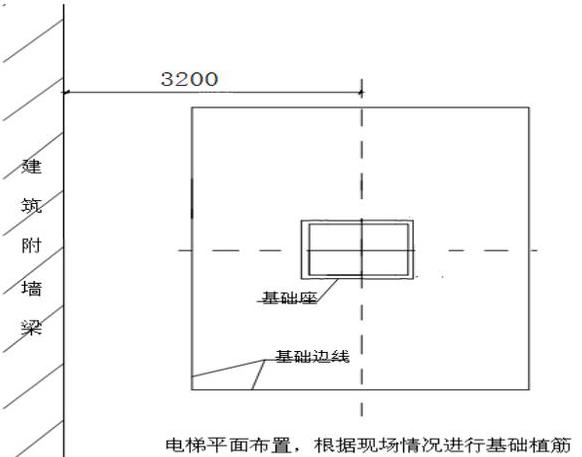 如何在建筑地下室顶板上安装施工电梯?