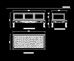 明代黄花梨卷草纹藤心罗汉床设计图免费下载7.3新的图纸珠宝图片