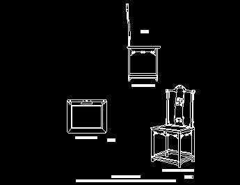 明清紫檀梨灯挂椅设计图