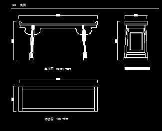 cad画椅子平面图