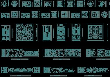 cad中式雕花图块免费下载 - 家具图纸 - 土木工程网
