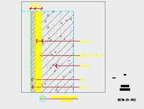 卫生间干区石材湿贴节点图