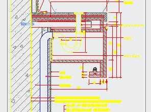卫生间台盆钢架剖面详图